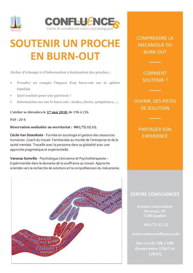Affiche - Soutenir un proche en Burn-out